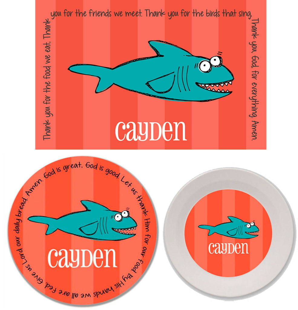 Shark Personalized Mealtime Set | 3-Piece