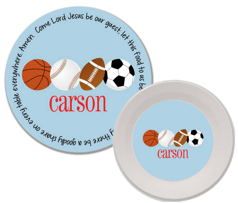Sports Personalized Mealtime Set | 2-Piece