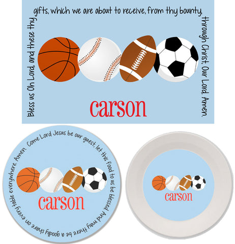 Sports Personalized Mealtime Set | 3-Piece