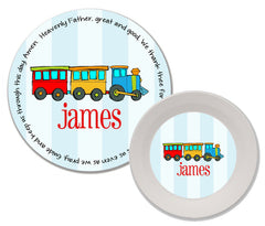 Train Personalized Mealtime Set | 2-Piece