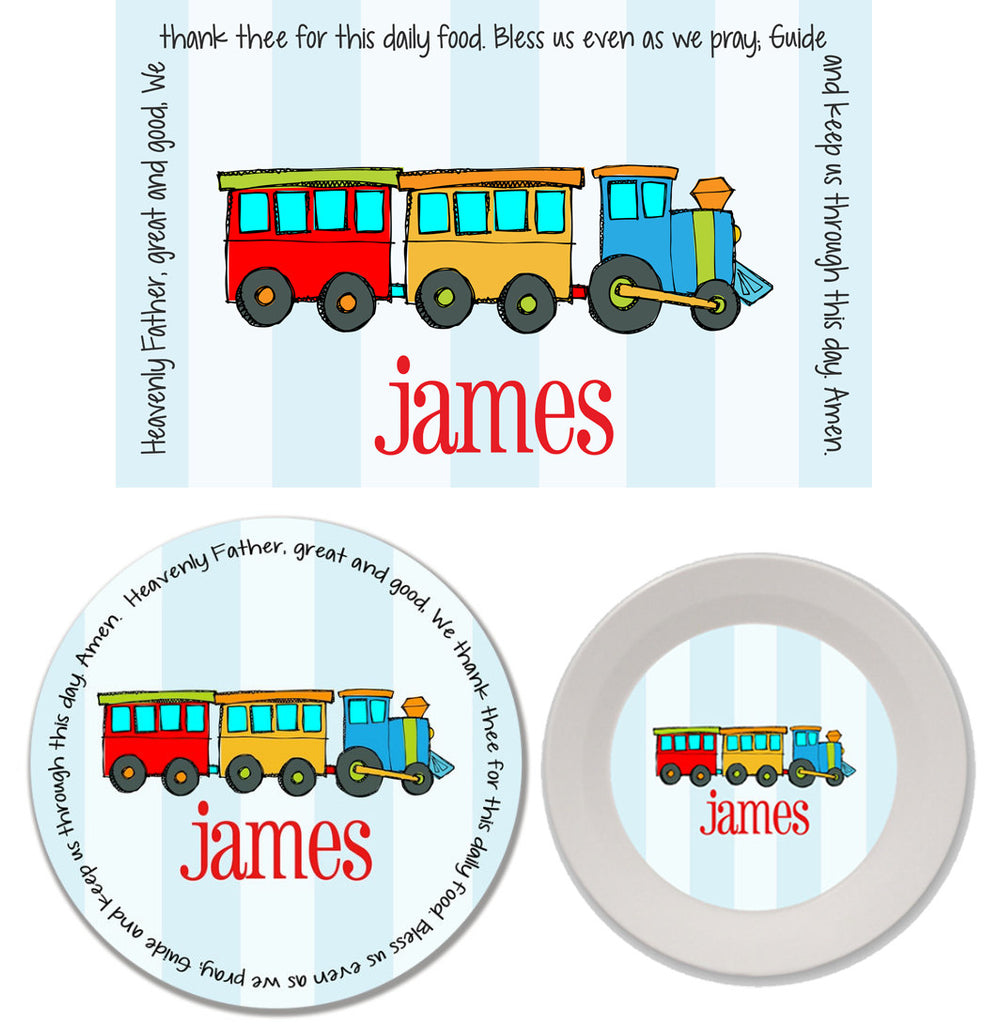 Train Personalized Mealtime Set | 3-Piece