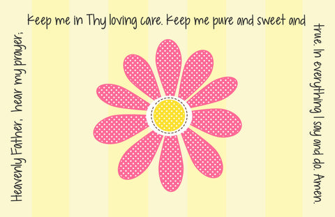 Daisy Quick Ship Prayer Place Mat