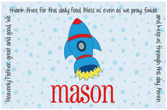 Rocket Personalized Kids Placemat