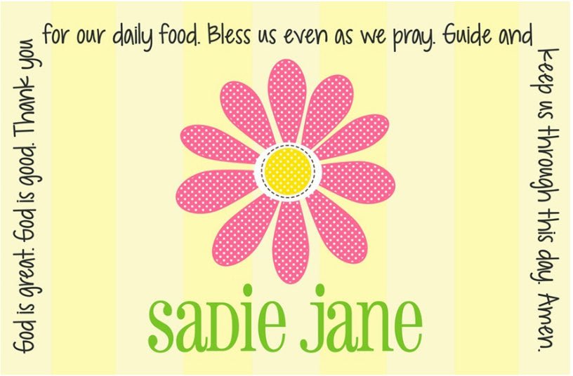 Daisy Personalized Kids Placemat