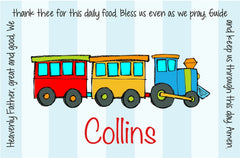 Train Personalized Kids Placemat