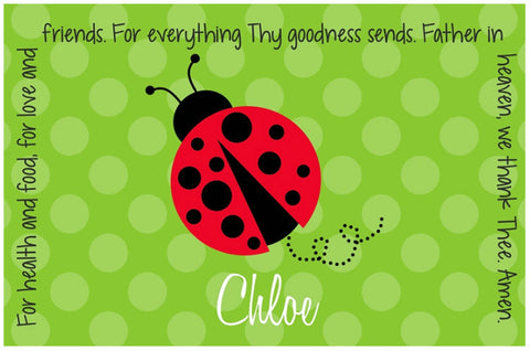 Ladybug Red Personalized Kids Placemat