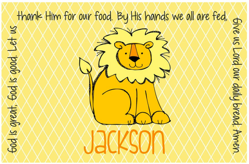 Lion Personalized Kids Placemat