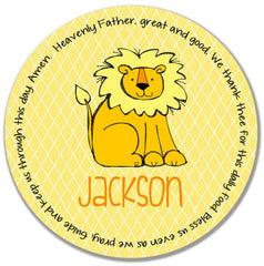 Lion Personalized Kids Melamine Plate