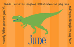 T-Rex Dinosaur Boy Personalized Kids Placemat