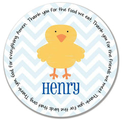 Easter Chick Boy Personalized Mealtime Set | 2-Piece