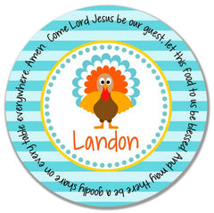 Thanksgiving Turkey Boy Personalized Mealtime Set | 2-Piece