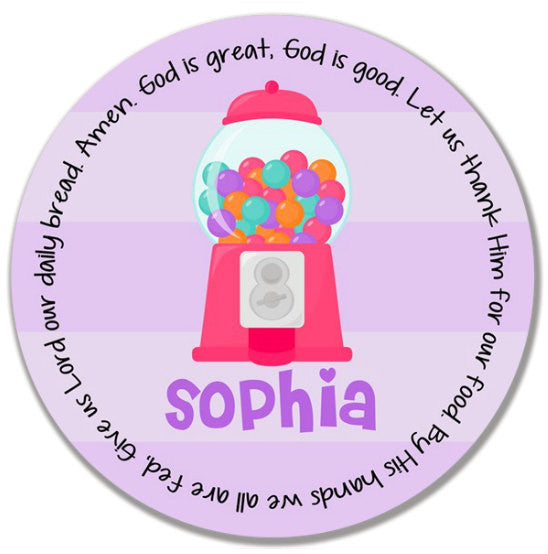 Gumball Girl Personalized Kids Melamine Plate  sc 1 st  Grace Settings & Gumball Girl Personalized Kids Melamine Plate u2013 Grace Settings