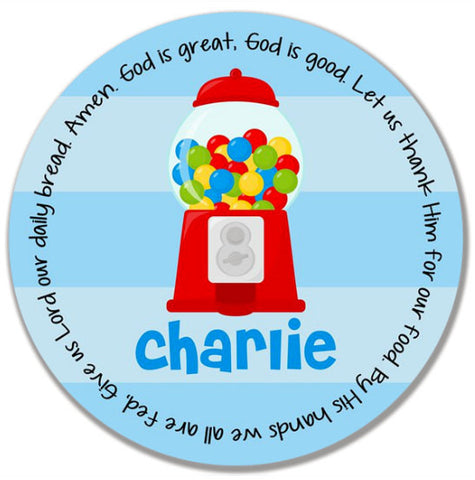 Gumball Boy Personalized Kids Melamine Plate