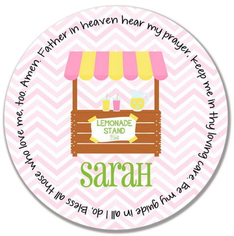 Lemonade Stand Personalized Kids Melamine Plate
