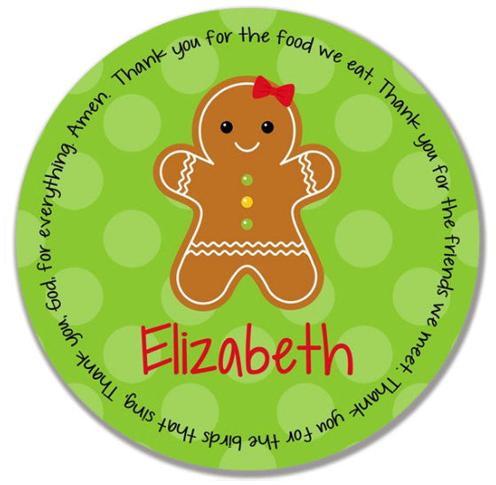 Christmas Gingerbread Personalized Kids Melamine Plate  sc 1 st  Grace Settings & Christmas Gingerbread Personalized Kids Melamine Plate u2013 Grace Settings