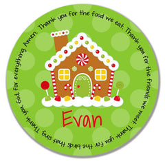 Christmas Gingerbread Personalized Kids Melamine Plate