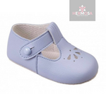 Light Blue Petal Punch T-Bar Shoes