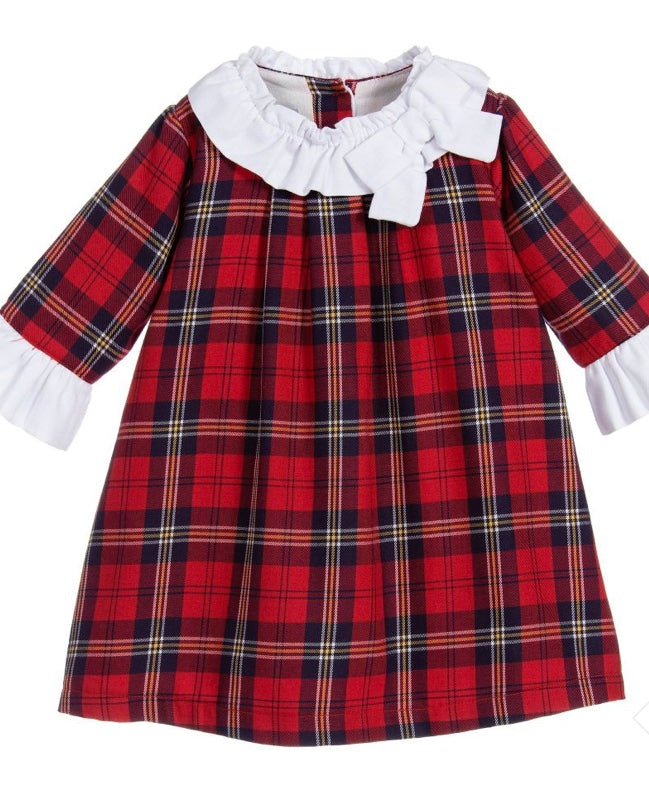 Red Tartan Bow Dress