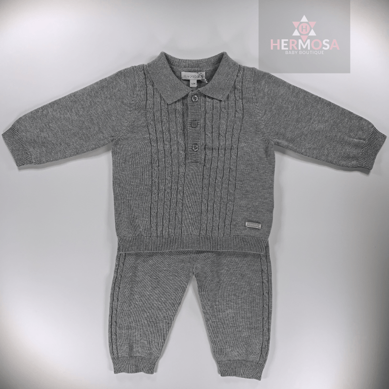Grey Cable Knit Tracksuit