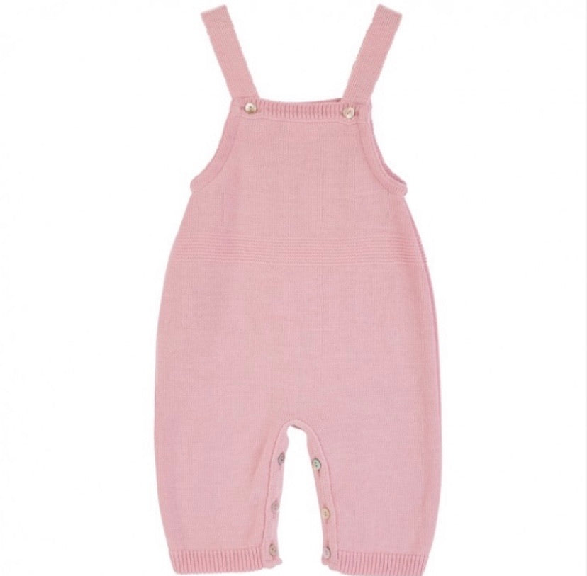 Dusty Pink Knitted Dungarees