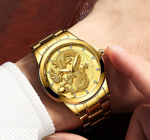 65% OFF Golden Luxury Waterproof Fashion Watch