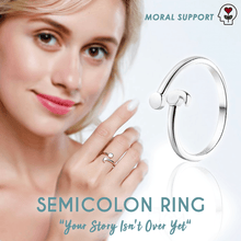 Load image into Gallery viewer, Semicolon Ring Depression Awareness