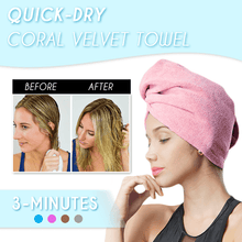 Load image into Gallery viewer, Quick-Dry Coral Velvet Towel