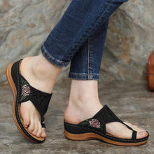 Load image into Gallery viewer, 【Last 200 pairs】【Flash Sale💝 50% OFF⭐ Factory Outlet】EMBROIDERY COMFY WEDGES SANDALS