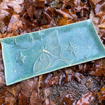 Load image into Gallery viewer, Luna Moth Porcelain Tray - Speckled Moss