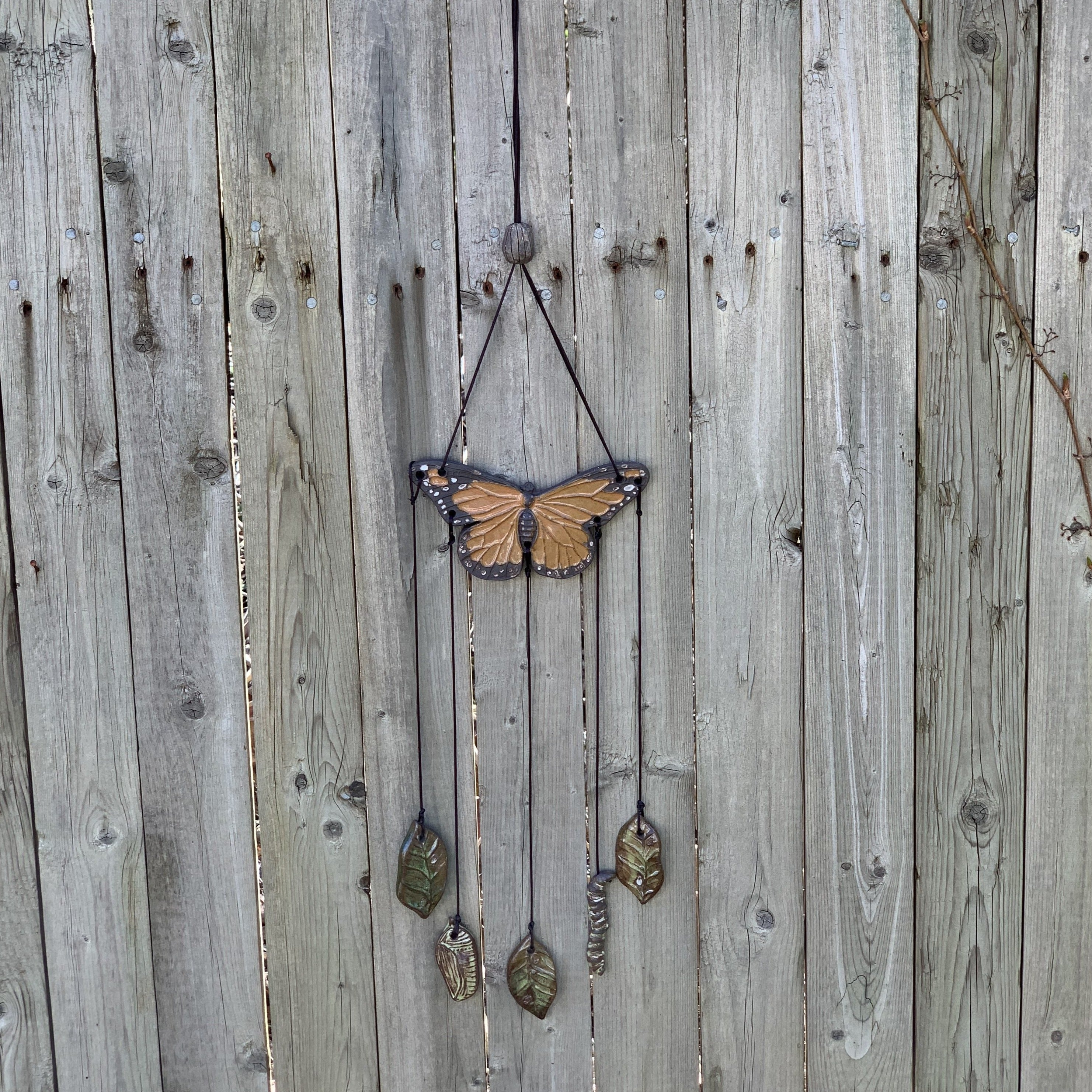 Monarch Life Cycle Wind Chime ~ Wall Hanging