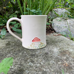 Load image into Gallery viewer, White Porcelain Botanical Mugs (18-20 oz)  ~ Handmade in Studio