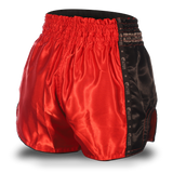 Red and Black Single Panel Stars Muay Thai Shorts