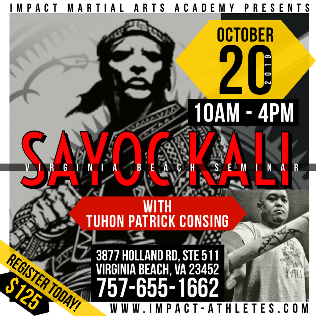 "Virginia Beach Seminar - SAYOC KALI: ""The Art Of The Blade"""