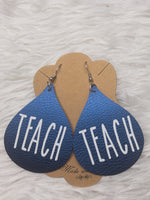 TEACH faux leather earrings