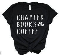 chapter books and coffee tee
