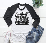 football themed women's tee