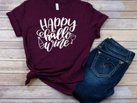 Happy Hallowine, cute halloween tshirts, party tshirts