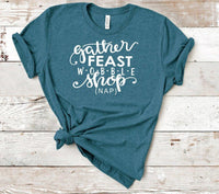 gather feast wobble shop nap thsirt, cute shirt for moms,  mom life, Thanksgiving shirt for women, black friday tshirt for women