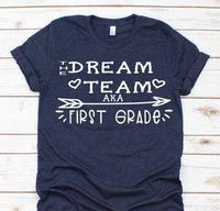 dream team teacher bella unisex tshirt,
