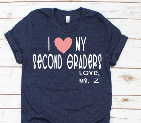 I love my second graders customized teacher bella unisex shirt