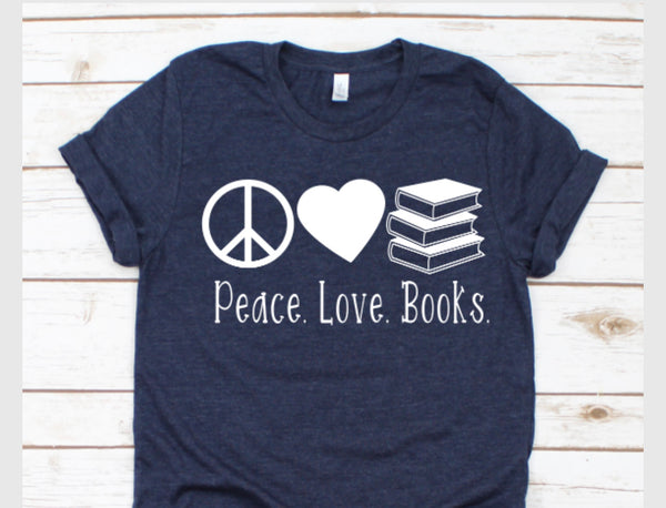 MYSTERY BAG peace love books tee