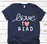 Love to read bella unisex shirt