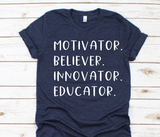 teacher list bella unisex tshirt