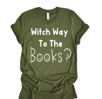 FEATURE FRIDAY: Witch Way to the books tee