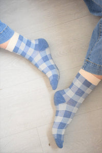 CALCETINES VICHY - AZULES