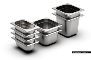 MONO WALNUT  <br> incl. 8 piece container set