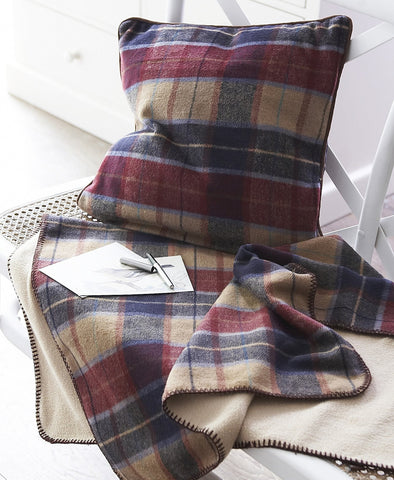 Tweed Lap Blanket & Cushion