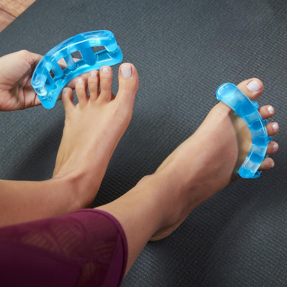 YogaToes toe separators provide the perfect stretch