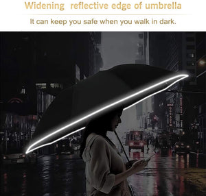 🔥Pre-Xmas Sale🔥 LED Inverted Umbrella with Reflective Stripe 【BUY 2 FREE SHIPPING】