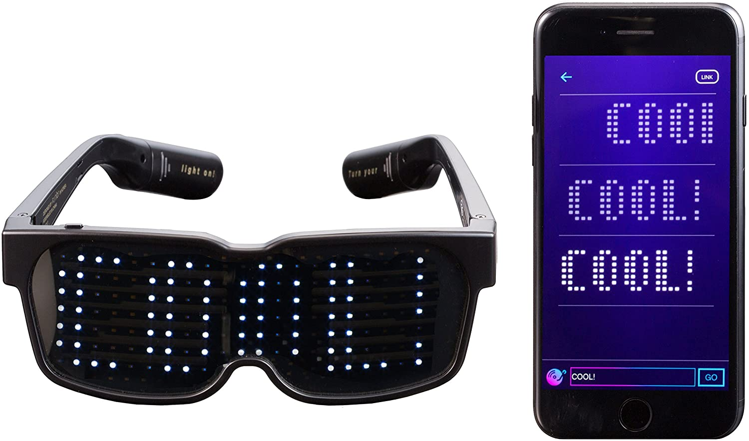 Customizable Bluetooth LED Glasses (FREE SHIPPING TODAY)